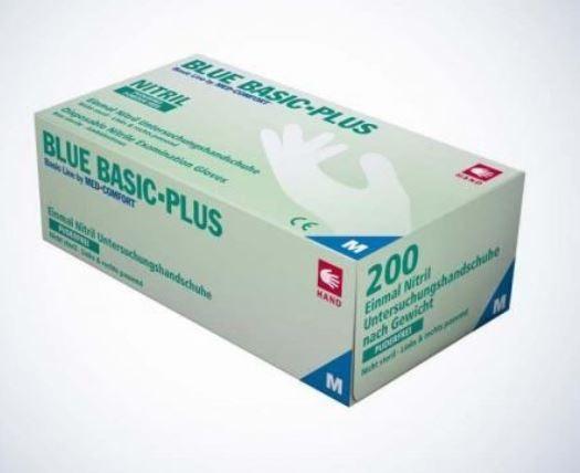 Untersuchungshandschuh Basic-Plus Blau 200 Stück