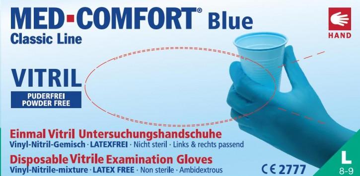 Einmalhandschuhe MED-COMFORT Blue Vitril 100 Stück