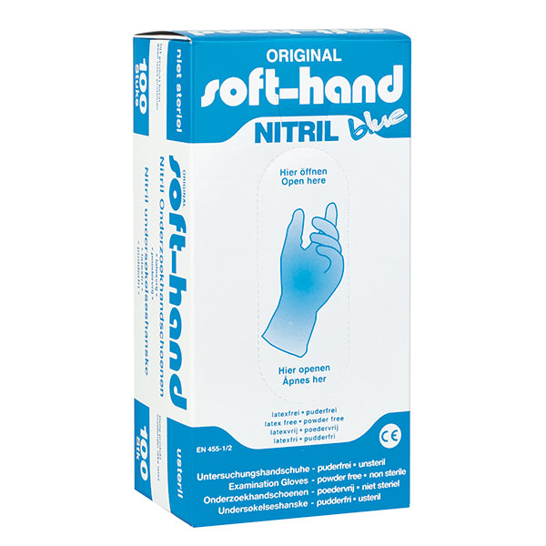Soft-Hand Nitril Blue - puderfrei 100 Stück