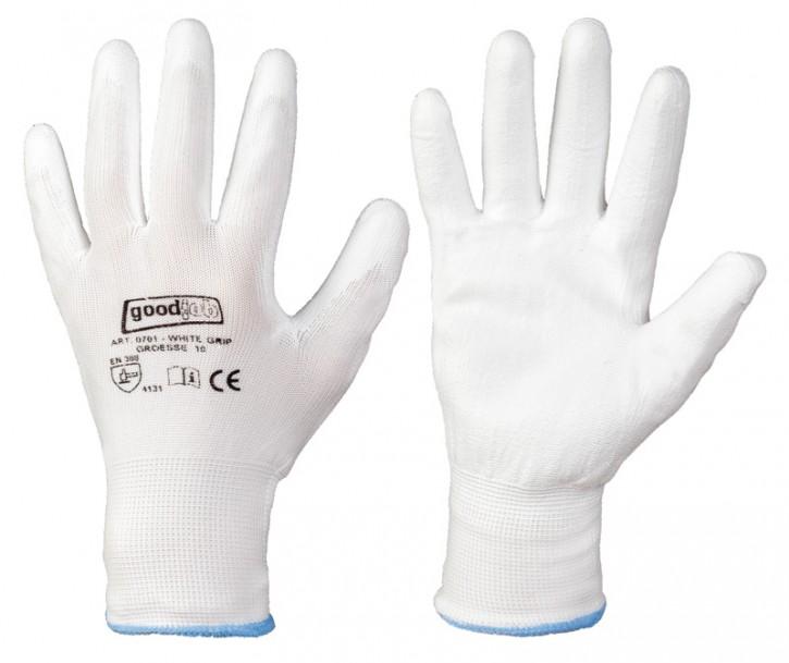 Polyester-Handschuh weiss