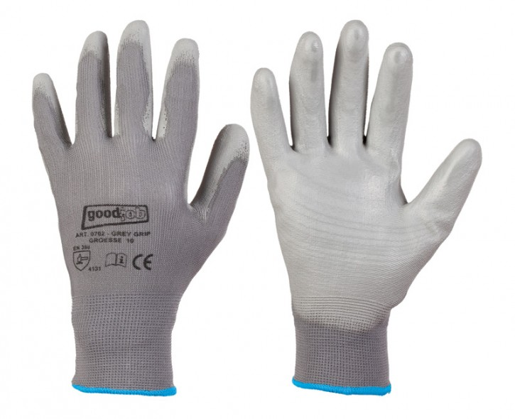 Polyester-Handschuh grau