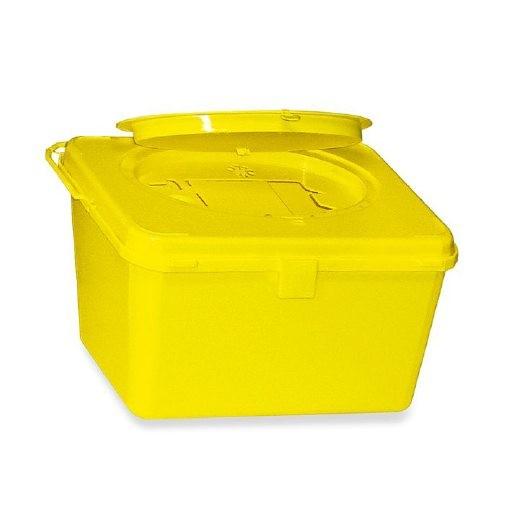 Kanülenabwurfbehälter ratiomed Safe-Box 4,0 L, für Spritzen, Kanülen, Skalpelle