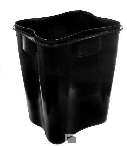 Entsorgungsbehälter abox schwarz 50L ohne Deckel