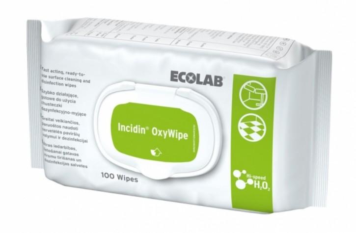 Incidin Oxy Wip Reinigungs- u. Desinfektionstücher 100 Tücher