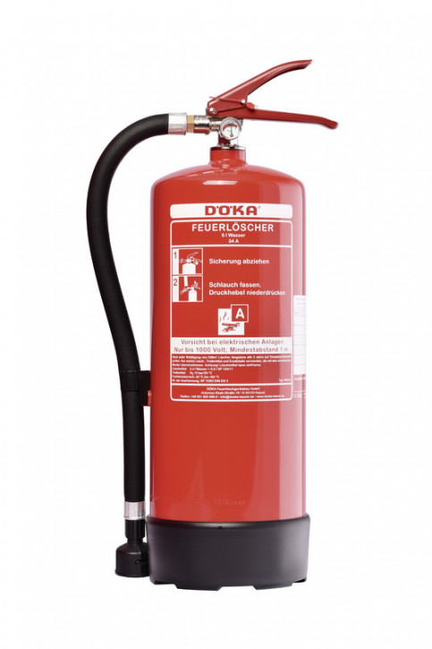 Wasserdauerdruck-Feuerlöscher Standard DÖKA WN9A 9L LE 12