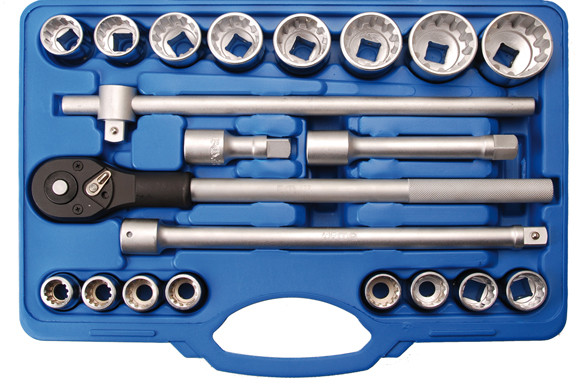 Steckschlüssel-Satz, Gear Lock, 20 (3/4), 21-tlg.