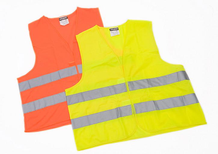 Warnweste Erwachsene DIN EN ISO 20471 - Polyester orange