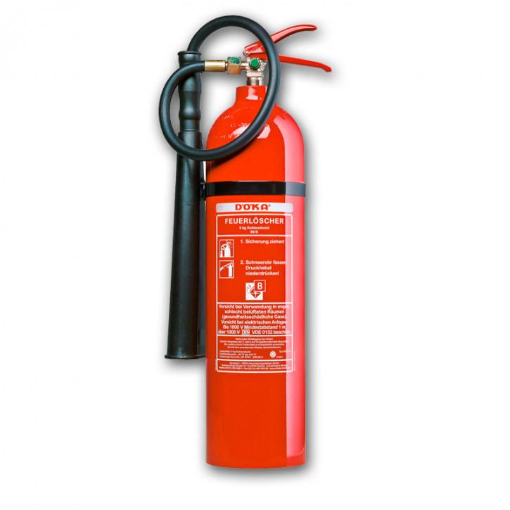 Kohlendioxidfeuerlöscher DÖKA KS5CA 5kg Aluflasche LE 5