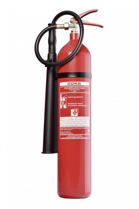 Kohlendioxidfeuerlöscher DÖKA KS5CS-1 5kg Stahlflasche LE 5