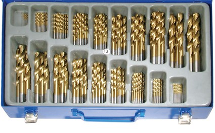 Spiralbohrer-Satz | HSS | titan-nitriert | 1 - 10 mm | 170-tlg.