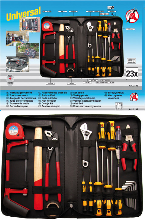 Werkzeugsortiment, 23-tlg.
