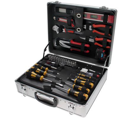 Werkzeugsatz im Alukoffer, 129-tlg.