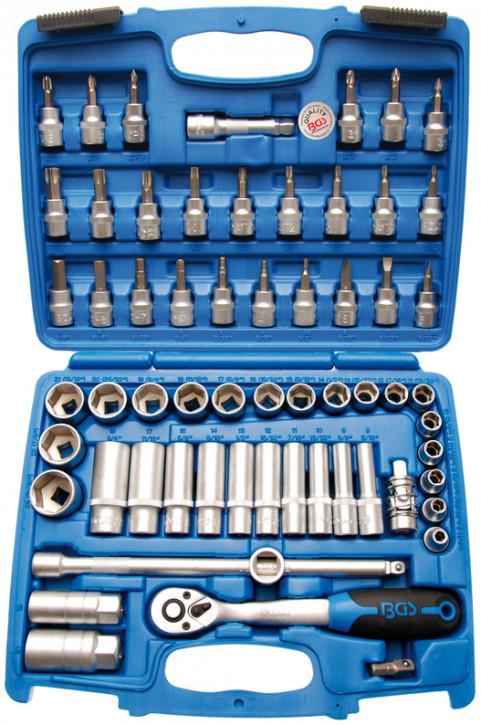 Steckschlüsselsatz 10 (3/8), 61-tlg., 6-kant Pro Torque Einsätze