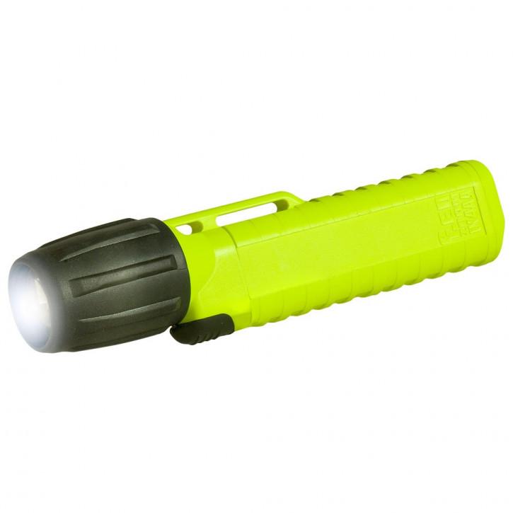 UK Helmlampe 4AA eLED Zoom, S Frontschalter, neongelb