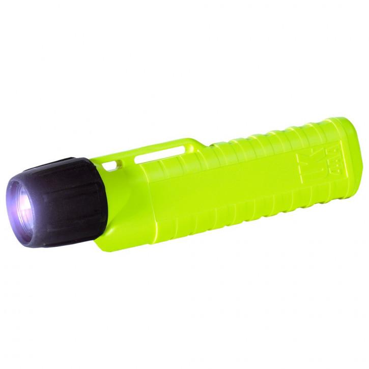 UK Helmlampe 4AA Xenon, EN Drehkopfschalter, neongelb