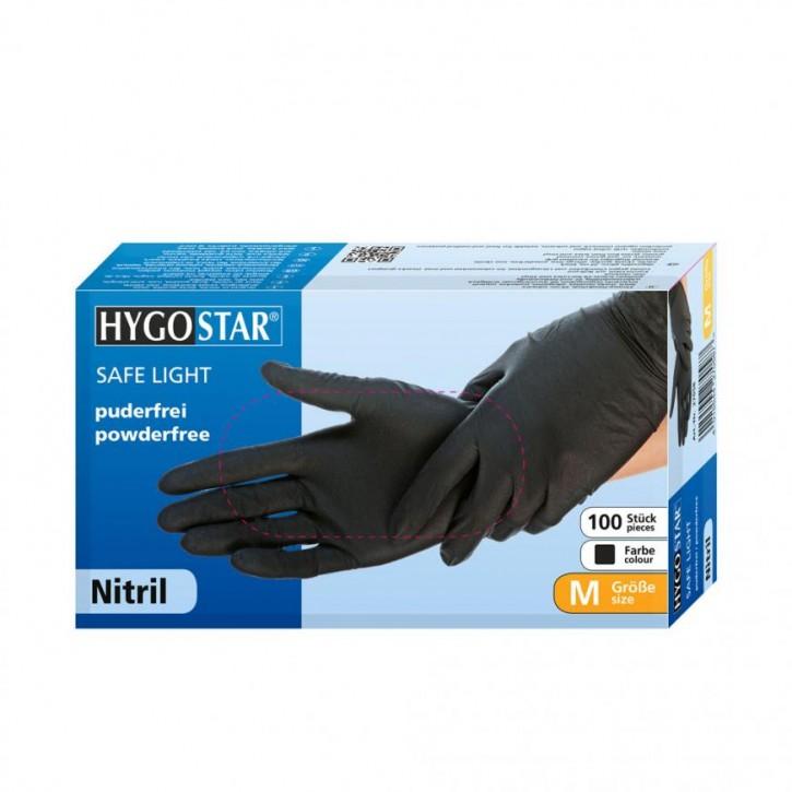 Nitrilhandschuhe Safe Light puderfrei schwarz