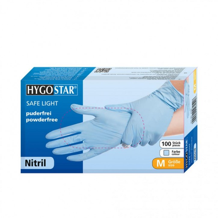 Nitrilhandschuhe Safe Light puderfrei blau