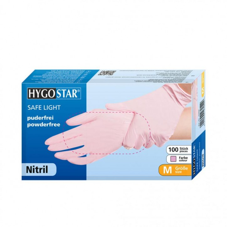 Nitrilhandschuhe Safe Light puderfrei pink