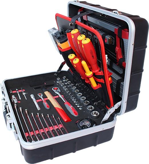 """ABS Werkzeugkoffer """"Elektriker"""" 125 tlg."""