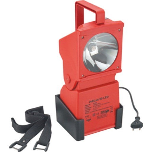 AccuLux - JobLux 90 LED, 230 V, rot, Xenon-Lampe + LED-Pilotlicht