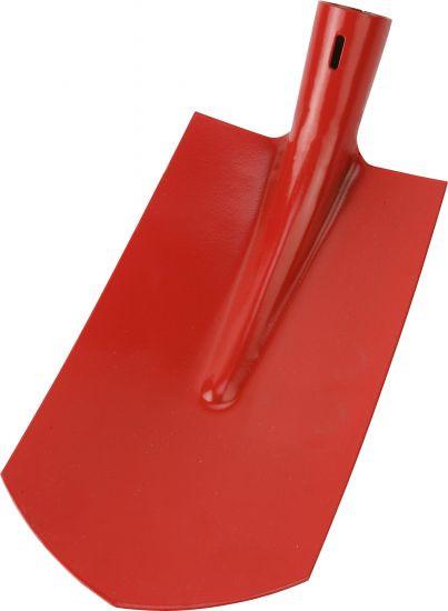 Kabelgrabenschaufel rot pulverbeschichtet, ohne Stiel