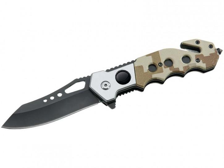 ATK-Rettungsmesser, Stahl AISI 440 Militär Look