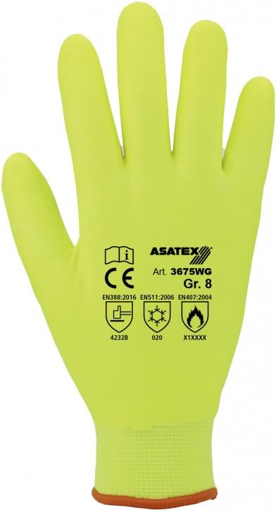 Winterhandschuh Asatex gelb, voll getaucht - Farbe: gelb