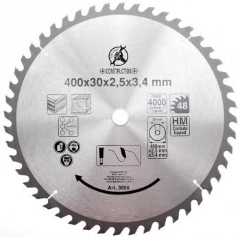 Hartmetall-Kreissägeblatt, Durchmesser 400 mm, 48 Zähne Ø 30 mm