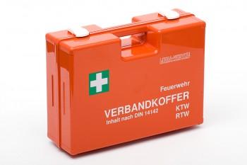 Verbandkoffer orange für Feuerwehr und Krankenwagen