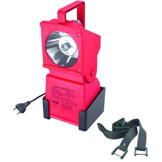 AccuLux - Joblux 90 LED Focus, 230 V, rot, PowerLED+Focus und LED-Pilotlicht