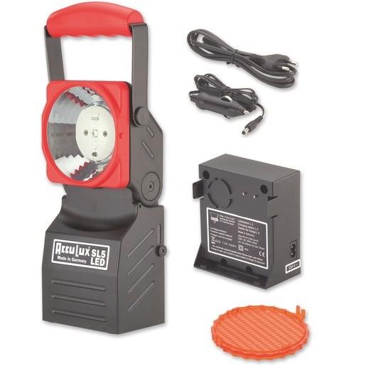 AccuLux SL 6 LED Set m.Focus, m. 3 Watt LED, 230V / 12-24V, sw./rot