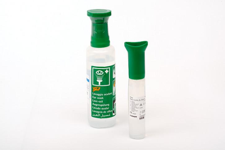 Augenspüllösung 100ml Ecolav, NaCI 0,9%, steril, mit Augenaufsatz