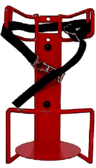 Feuerlöscher-KFZ-Halter für 6 kg/L Feuerlöscher Geräte bis 150 mm Ø rot lackiert