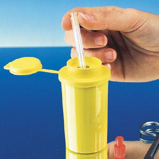 Servobox Taschenmodell gelb 0,1 Liter Kanülensammler