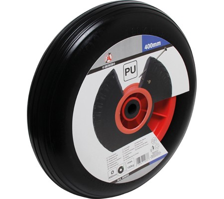 PU-Rad für Schubkarre, schwarz, 400 mm