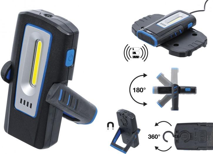 Werkstattleuchte COB-LED mit Magnet und Haken | klappbar | mit induktiver Ladefunktion