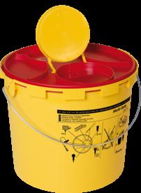 Multi Safe Medi 6 mit Bügel u. Etikett Kanülenabwurfbehälter 6Liter
