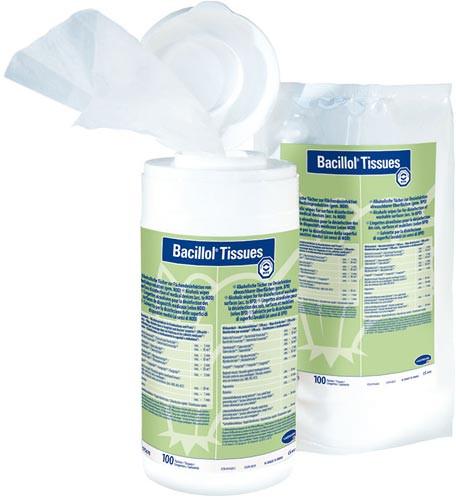 Bacillol Tissues 100 Stück mit Spenderdose