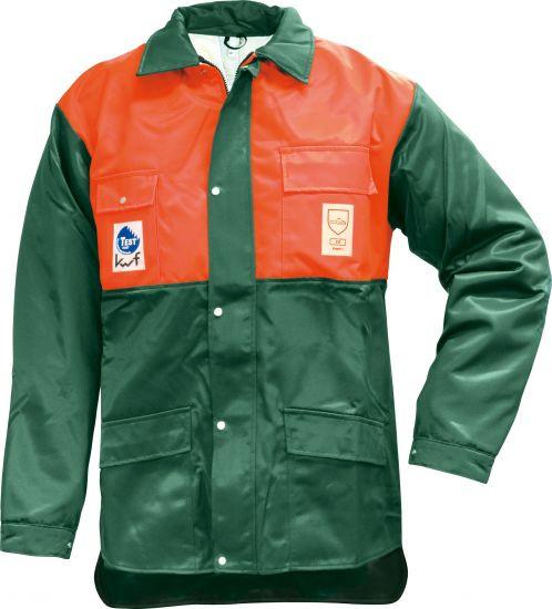 Forst Schnittschutz-Jacke, grün / orange