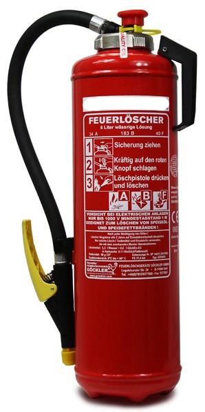 Fettbrandaufladefeuerlöscher Göckler GÖF6PS 6 L 10 LE