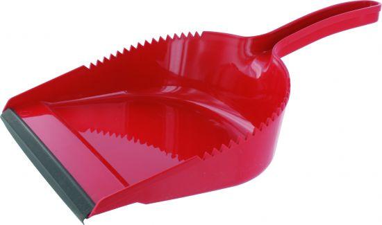 Kehrschaufel Kunststoff mit Gummilippe, farbig sortiert