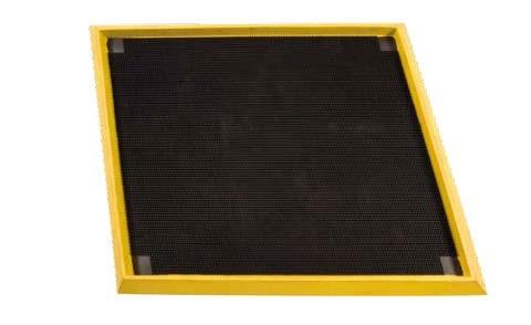 Hygiene Durchlaufschleuse schwarz/gelb aus Naturgummi