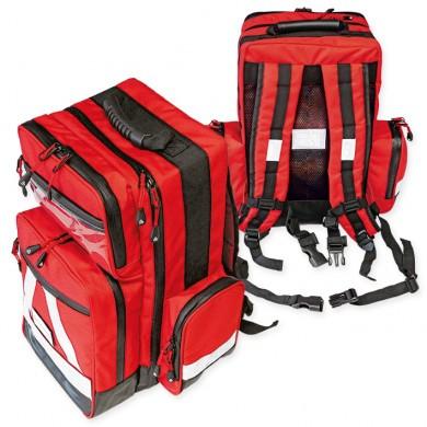 Notfallrucksack ''WasserStopp'' ratiomed groß, rot, leer