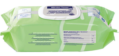 Mikrobac Tissues im Flow-Pack 80 Tücher