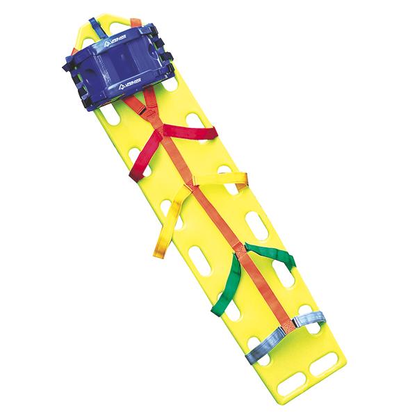 Spineboard Gelb mit 10-Punkt Fixiersystem