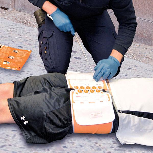 Beckenschlingen T-Pod® Responder weiß/orange