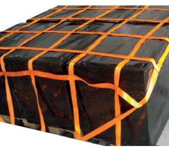 Palettennetz LKW 6 Fach - Zurrnetz 50 cm x 50 cm mit Gurtband
