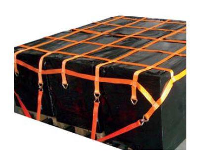 Palettennetz LKW 6 Fach - Zurrnetz 50 cm x 50 cm mit D-Ringe