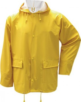 PU-Stretch-Regen-Jacke, gelb