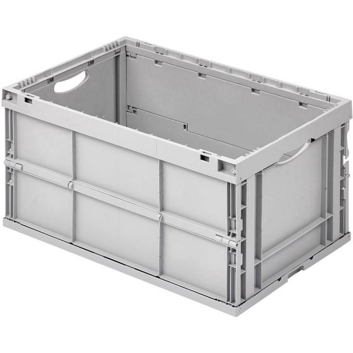 Industrie-Faltbox/Klappbox grau 64 Liter 600x400x320 mm gefaltet: 72 mm